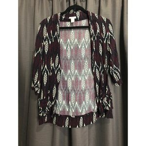 BOHO loose cardigan with eccentric pattern